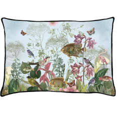 velvet cushion, flowers,birds paradise, butterfly