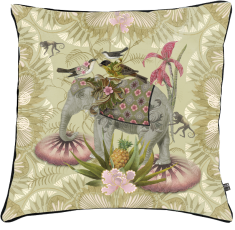 velvet cushion, flowers,birds paradise, elephant