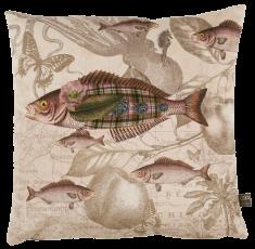 coussin velours poisson écossais