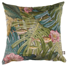coussin velours jungle