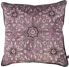 Coussin velours carreau de Ciment Lilas