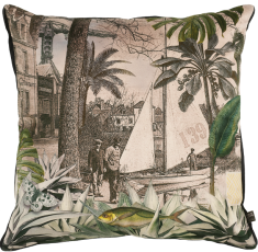 velvet cushion Quai des Antilles