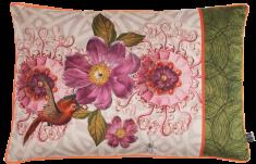velvet cushion 40x60 Oiseau de Paradis