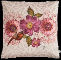 velvet cushion oiseau de paradis