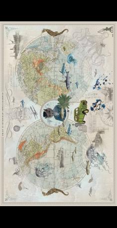 Mappemonde le Tour du monde en 2 CV