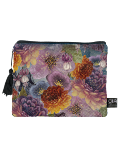 trousse maquillage florale