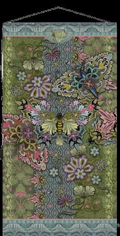 tapisserie papillons art deco