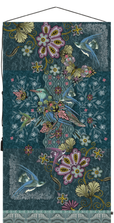 tapisserie oiseaux art deco