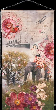 wall tapestry Voyage en transatlantique OIA
