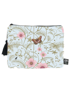 toiletry bag, butterfly